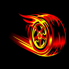 flaming wheel
