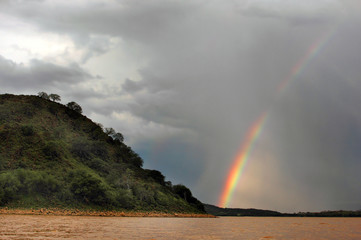 Rainbow at Baringo Lake