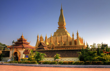Pha That Luang (national monument) - Vientiane, Laos