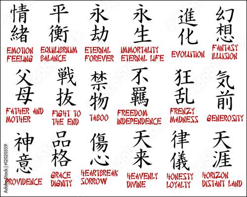 kanji tattoo symbols. Chinese symbols - Japanese