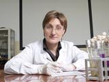 Female laboratory technician poster