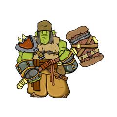 fantazy troll-ork warrior