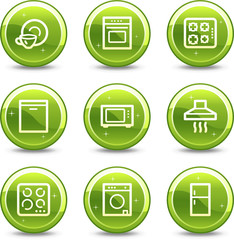 Home appliances web icons,  glossy circle buttons series