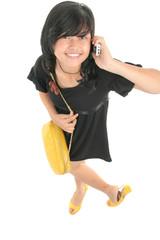 high angel cute girl calling