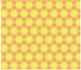 Seamless honeycomb mosaic