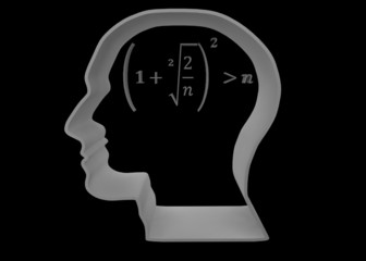 Brain math black