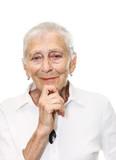 Senior woman smiling in camera