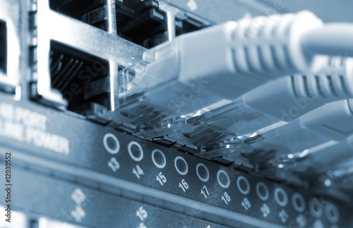 network cables connected to switches