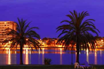 Mallorca, night panorama