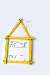 Zollstock als Haus, Planung, Idee