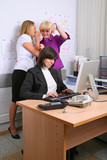 Employees of office poster