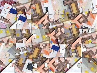puzzle di banconote euro