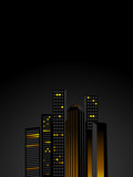 urban night skyline poster