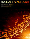 Fototapety musical notes -vector background