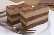 Detaily fotografie cake plate choco
