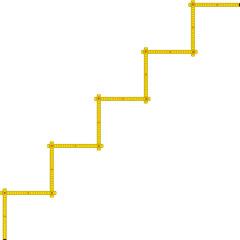 Zollstock Treppe