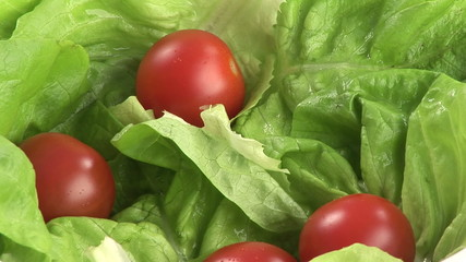 Lettuce with tomatoes