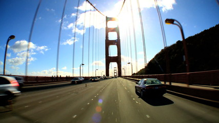Driving The Golden Gate Bridge