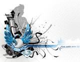 Fototapety Music vector composition