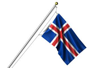 Isolated Icelandic Flag