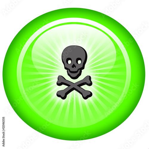 Leinwandbild Motiv poison icon