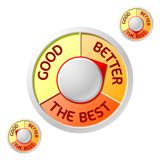 Good> Better> The Best emblem poster