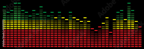 colorful music equalizer - vector image