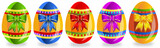 Easter eggs with bows (set 2)