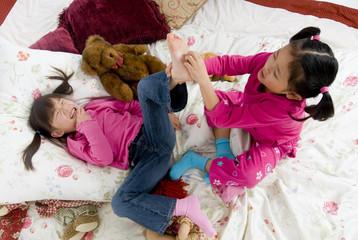 Tickling feet