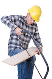 Craftsman with saw poster