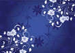 floral bleu et blanc sintillant