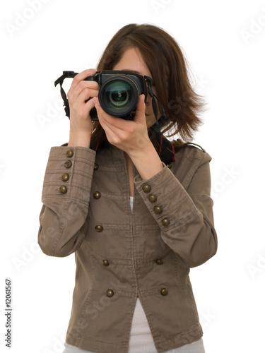Girl with photocamera
