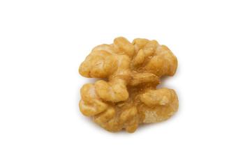 Fresh walnut isolated on the white background