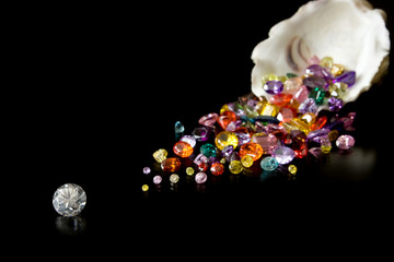 Diamond And Gems From Oyster