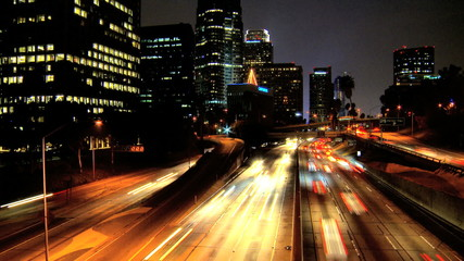 Night Traffic In Los Angeles
