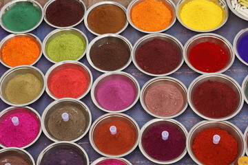 Colorful Display of Hindu Powder