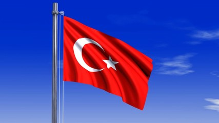 Türkei Fahne mit Alpha-Kanal