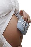Embarazada con deportivas
