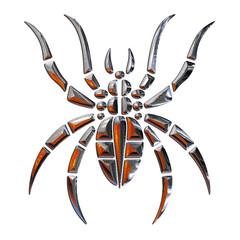 Ilustracion de una Araña realizada en cromo