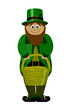 leprechaun With Pot Of Gold - Saint patricks Day