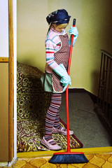 Little cleaning lady