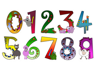 Animal Themed Numbers Poster (Part Of Set)