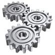 Leinwanddruck Bild - three gear