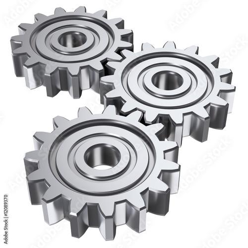 Leinwanddruck Bild three gear