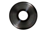 Old 33 Record Isolated on White with Clipping Path