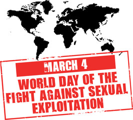 march 4 - world day of the fight against sexual exploitation