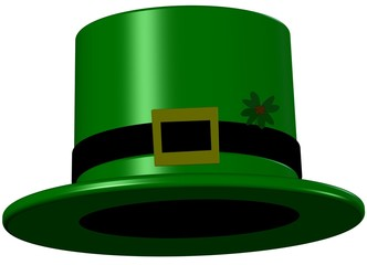 Leprechaun Hat With 4 Leaf Clover - Saint Patricks day