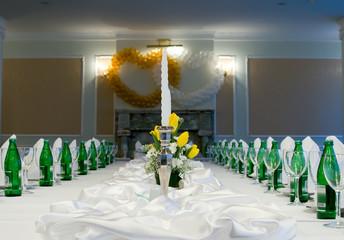 wedding table in restaurant
