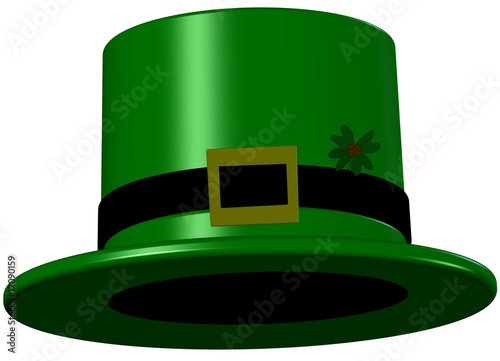 Leprechaun Hat With 4 Leaf Clover - Saint Patricks day