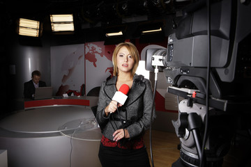 on the air television news reports